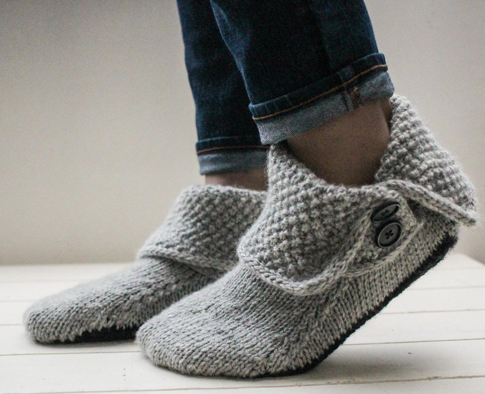 3-in-1 Button Boots Knitting pattern by Bekah Knits