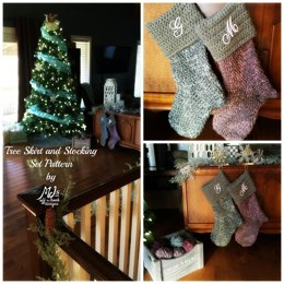 Bulky & Quick Tree Skirt and Stocking Set