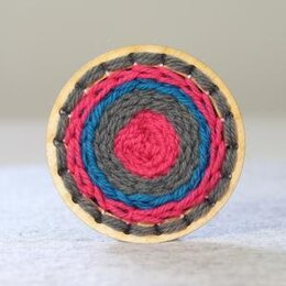 Hawthorn Handmade Go Weave Brooch Kit (Grey, Blue & Pink)