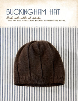 Buckingham Hat in Blue Sky Fibers Royal Petites - 1255 - Downloadable PDF