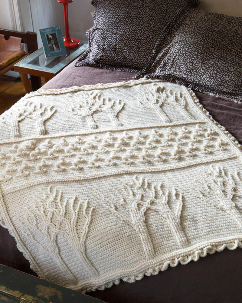 Tree Of Life Afghan In Lion Brand Wool Ease 90360ad