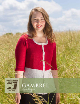 Gambrel Cardigan in Juniper Moon Findley