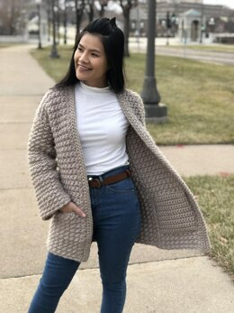 Even moss stitch sweater