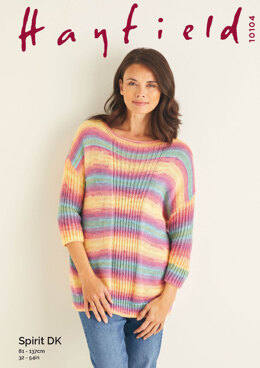 Ladies Sweater in Hayfield Spirit DK - 10104 - Leaflet