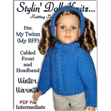 Cable Front Pullover for My Twinn (23 inch doll)