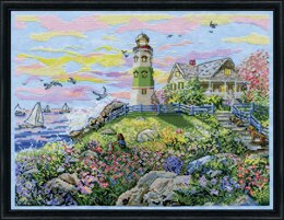 Design Works Watching the Sunset Counted Cross Stitch Kit - 35 x 28cm