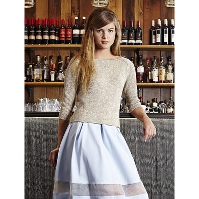 Wide Neck Sweater in Debbie Bliss Juliet