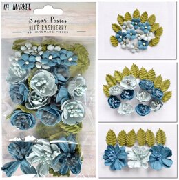 49 And Market Sugar Posies - Blue Raspberry