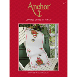 Anchor Cherries in a Basket Runner Cross Stitch Kit