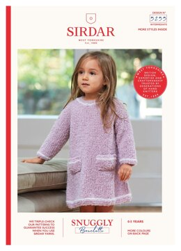 0213dd43d43 Girls Dress and Hat Sirdar Snuggly Bouclette - 5255 - Downloadable PDF