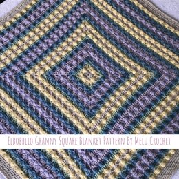 Elbobblio Granny Square Blanket Pattern US terminology By Melu Crochet
