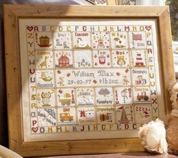 Historical Sampler Company A is for Ark Birth Sampler Cross Stitch Kit - 38cm x 32cm