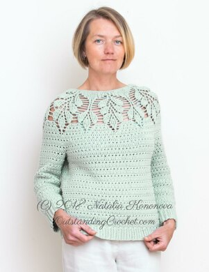 Leaf Yoke Sweater