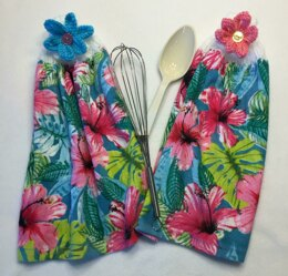Tropical Flowered Hand Towel