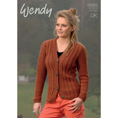 Cable Cardigans in Wendy Merino DK - 5683
