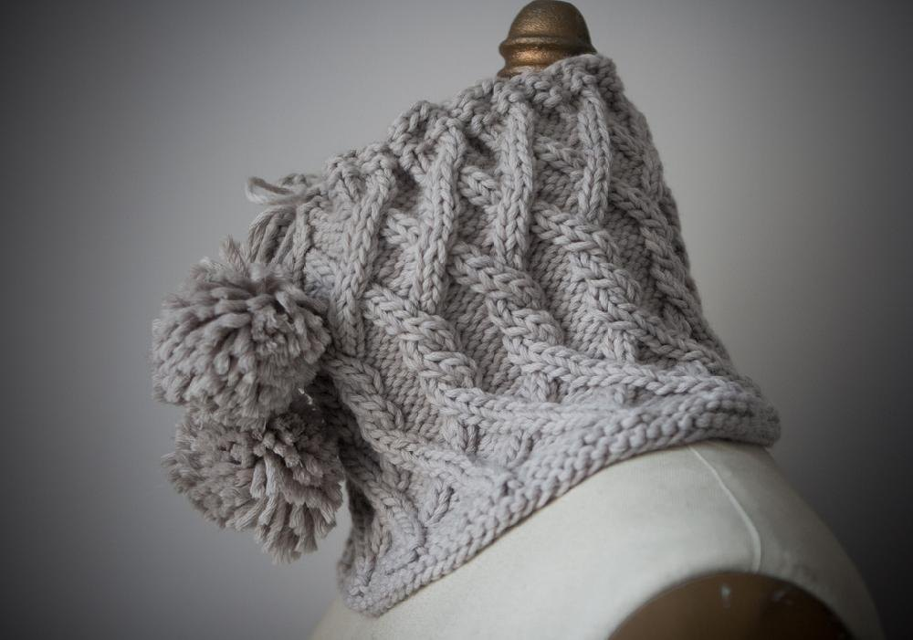 Drawstring Cabled Cowl Knitting pattern by Michele Wang ...