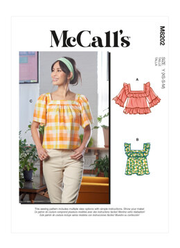 McCall's Misses' Tops M8202 - Sewing Pattern
