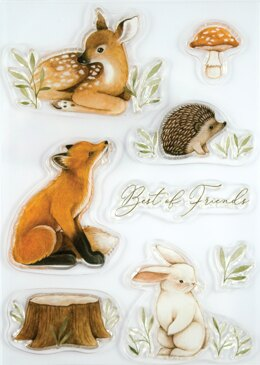 Craft Consortium A5 Clear Stamps - Little Fawn & Friends, Best Friends