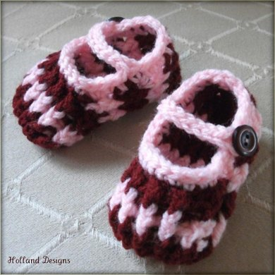 Stripy Ribbed Baby Shoes