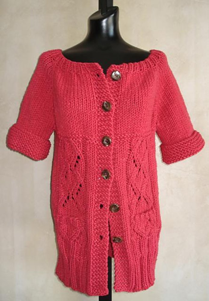 74 Top Down Long Lace Cardigan Knitting Pattern By