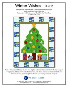 Windham Fabrics Christmas Morning  from Winter Wishes - Downloadable PDF