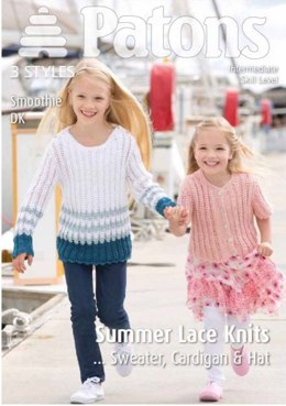 Girls Lace Knits in Patons Smoothie DK - 4019