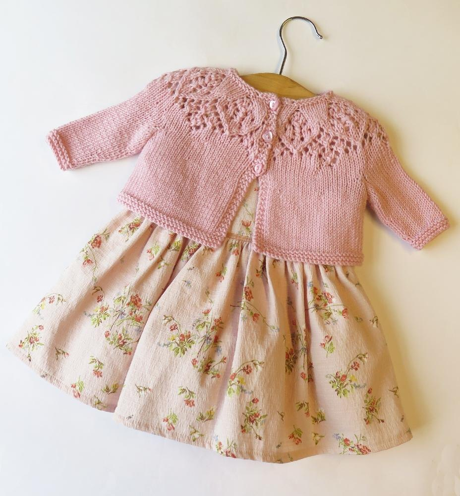 Toddler Girl Cardigan Knitting Pattern : Meredith Baby Cardigan Knitting pattern by Ruth Maddock ...