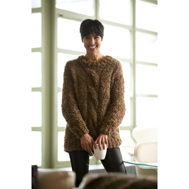 Cozy Textured Pullover in Lion Brand Homespun Thick & Quick - L32012