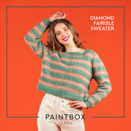 Diamond Fairisle Sweater - Free Jumper Knitting Pattern For Women in Paintbox Yarns Simply DK by Paintbox Yarns