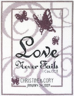 Janlynn Corporation Love Never Fails Wedding Sampler Cross Stitch Kit - 15cm x 20cm