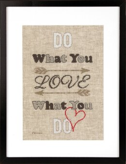 Vervaco Do What You Love Cross Stitch Kit