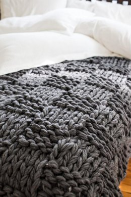 Basketweave Arm Knit Blanket