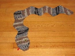 Crocheted Snake Puppet Scarf