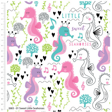 Craft Cotton Company Sweet Little Seahorse - Sweet Little Seahorse