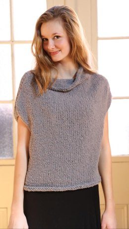Shell Top in Plymouth Yarn Arequipa Boucle - 3140 - Downloadable PDF