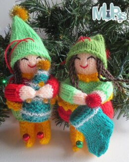 Holiday Helper Elves Hanging Ornament