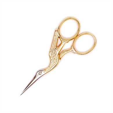 Madeira Gold Plated Stork Embroidery Scissors