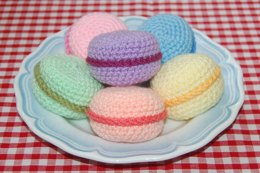 Crochet Pattern for Macarons / Macaroons - Crochet Play Food / Amigurumi / Tea Party / Crocheted Food