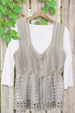 Linette Crochet Vest in Knit One Crochet Too 2nd Time Cotton - 1925