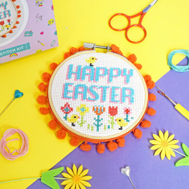 The Make Arcade Happy Easter XS Cross Stitch Kit