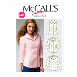 McCall's Misses' Shirts M6750 - Sewing Pattern