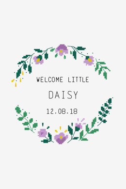 Welcome Little One in DMC - PAT0710 -  Downloadable PDF