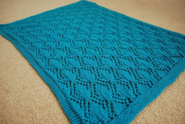 Gothic leaves baby blanket Knitting pattern by Sarah Jordan Knitting Patter...
