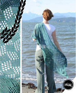 Storm Water Shawl in Hand Maiden Sea Silk