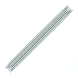 Unique Aluminium Double Point Needles 20cm (Set of 5)
