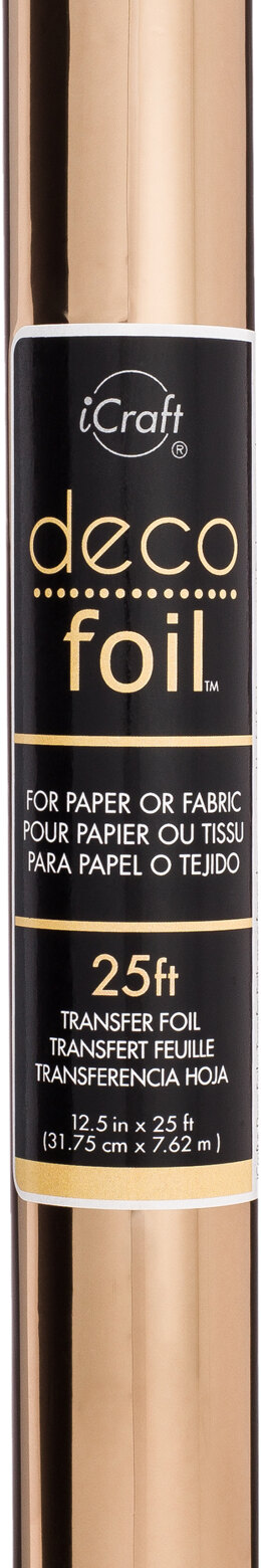 """Therm O Web Deco Foil Transfer Sheet 12.5""""X25' Roll - Rose Gold"""