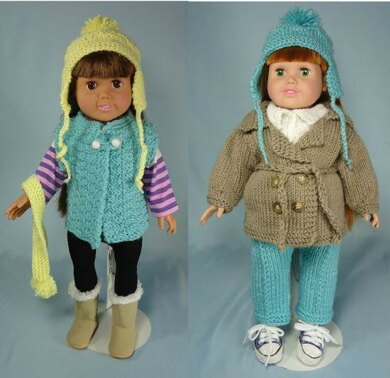 Outdoor-Ables, Knitting Patterns fit American Girl and other 18-Inch Dolls