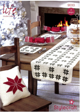 Christmas Table Decoration Set and Cushions in Stylecraft Life DK