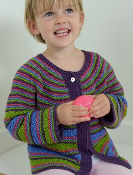 Girls Cable & Moss Cardigan in Ella Rae Cozy Bamboo - ER-1036 - Leaflet