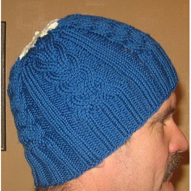 Cable Staghorn Whalebone Hat Beanie Toque Knitting Pattern By